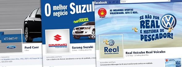 Real, Caer e Sarang inauguram suas fan pages no Facebook